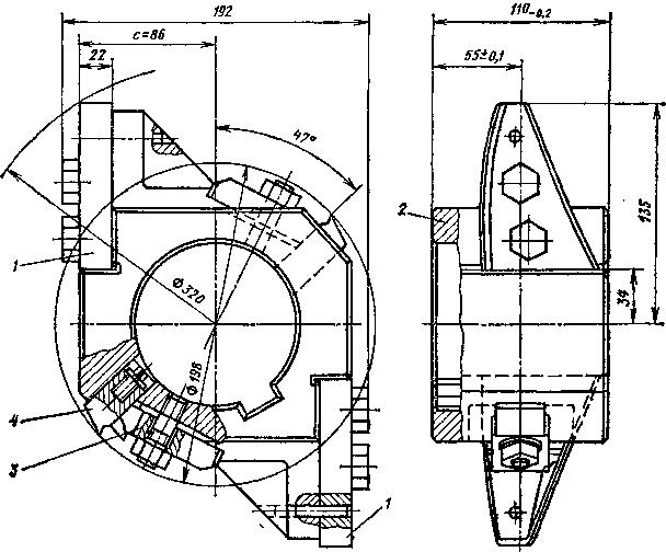 Обкаточный резец (m = 28 мм) для нарезания крупномодульных зубчатых колес