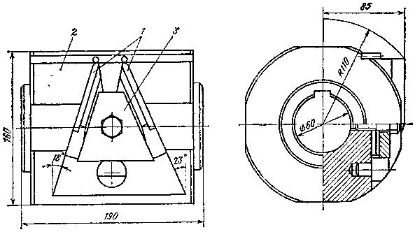 Обкаточная двухрезцовая головка m = 10 мм для чистовой обработки закаленных колес