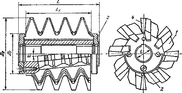 Крупномодульная червячная фреза со вставными гребенками
